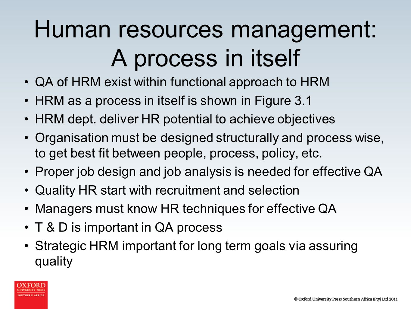 how to get into human resources management