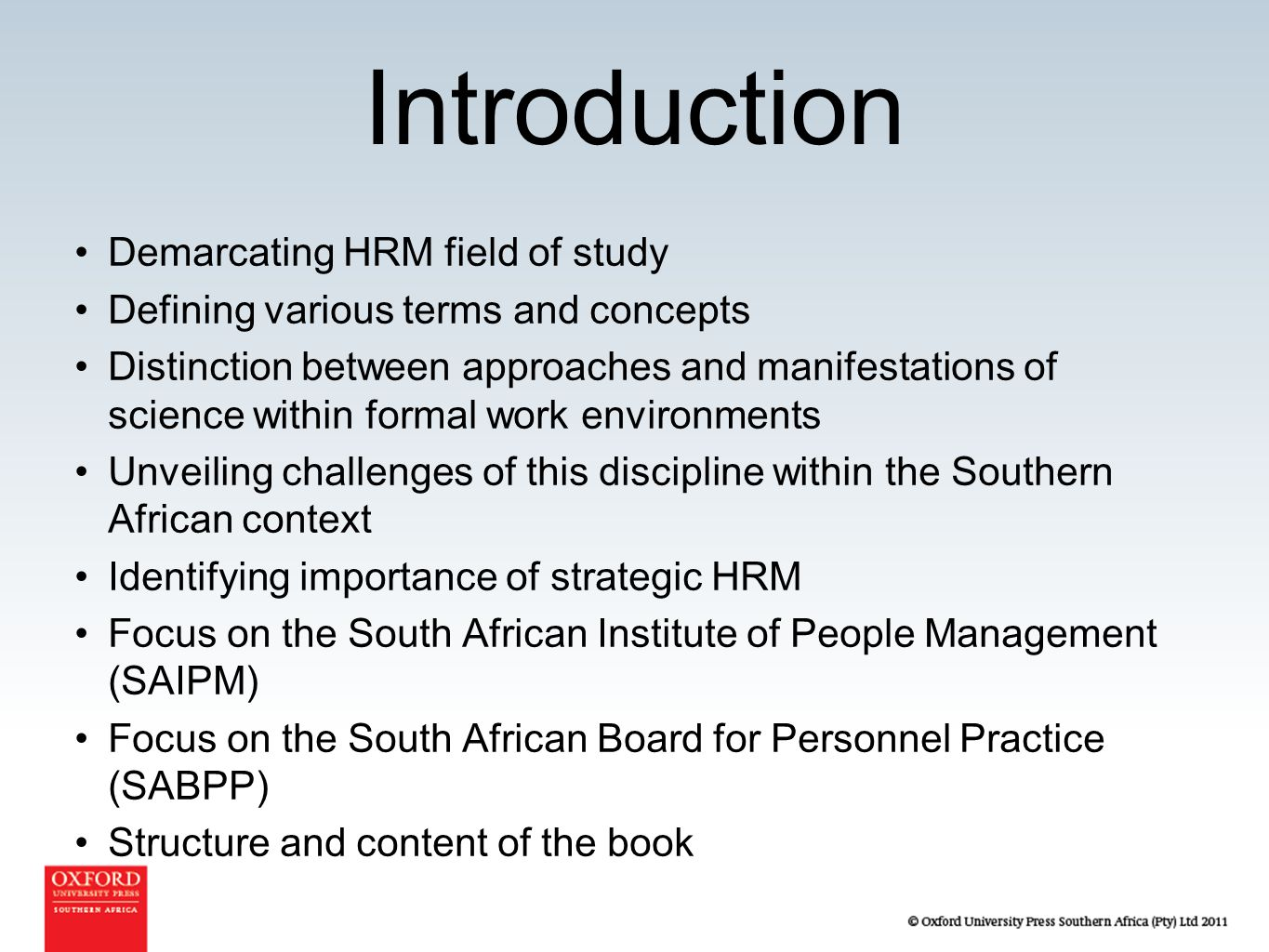 introduction for human resourse management