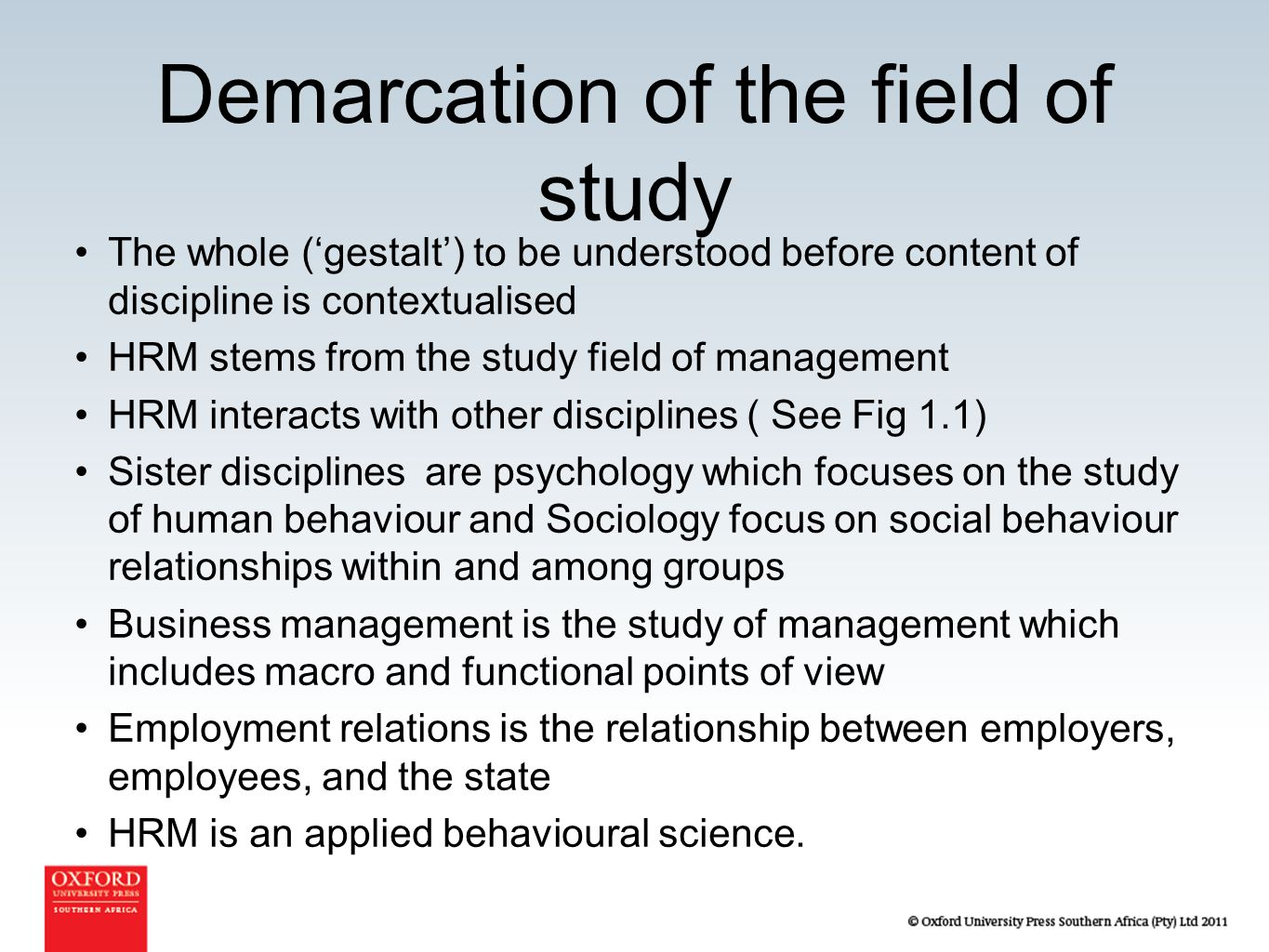 relationship between sociology and human resource management