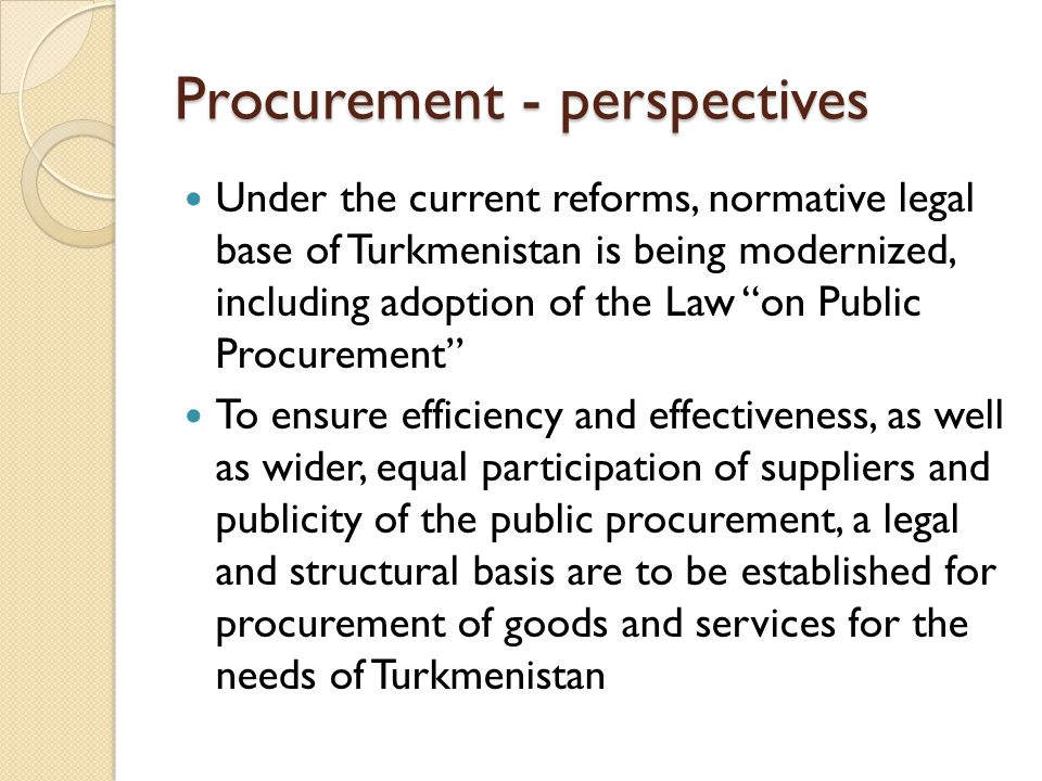 Procurement - perspectives
