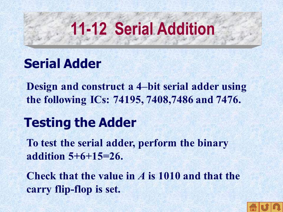 Verilog Code For Serial Adder Register