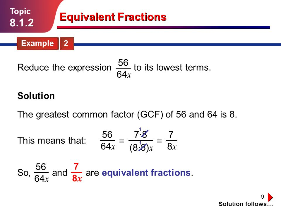 Equivalent fractions year 6 powerpoint