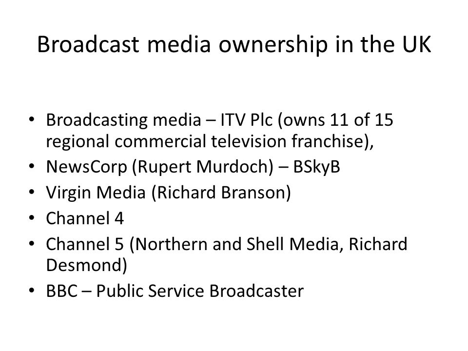 UK media plurality threatened by dominant group of large firms – report