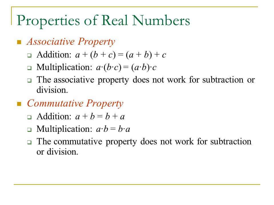 real numbers properties of addition and multiplication relationship