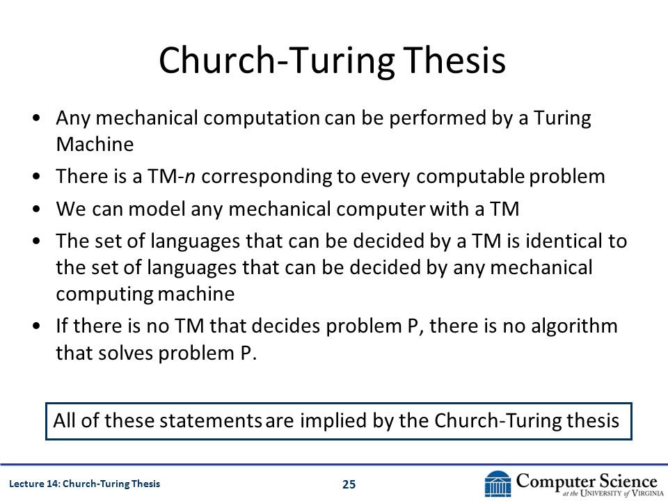 church-turing thesis published The church-turing thesis and its look-alikes full text: pdf get this article: the acm digital library is published by the association for computing machinery.