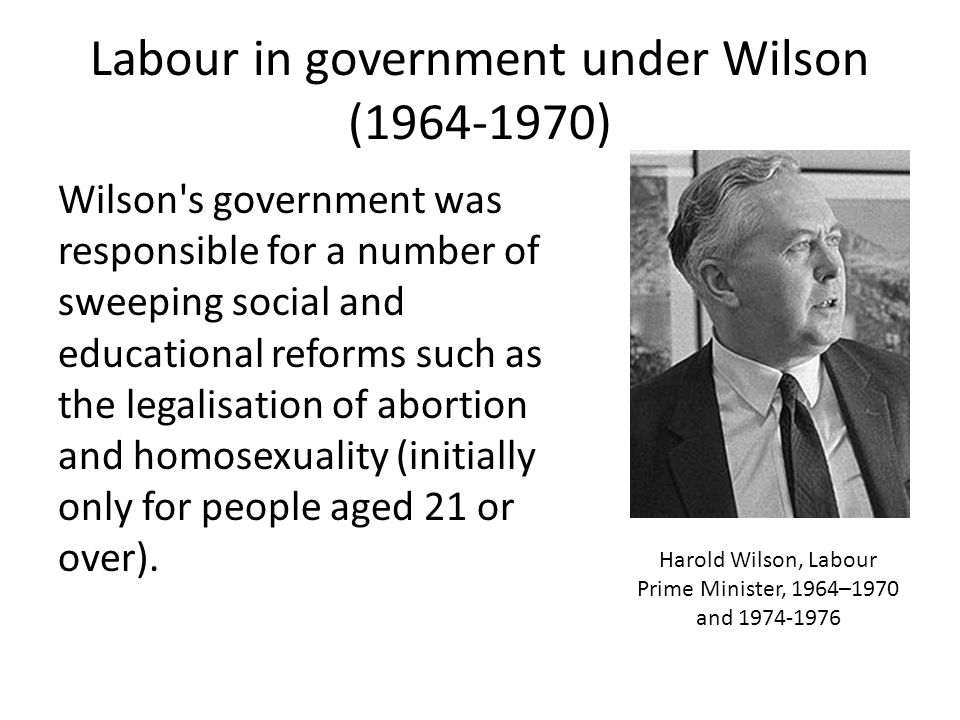 Labour in government under Wilson ( )
