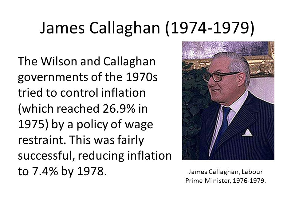 James Callaghan, Labour Prime Minister,