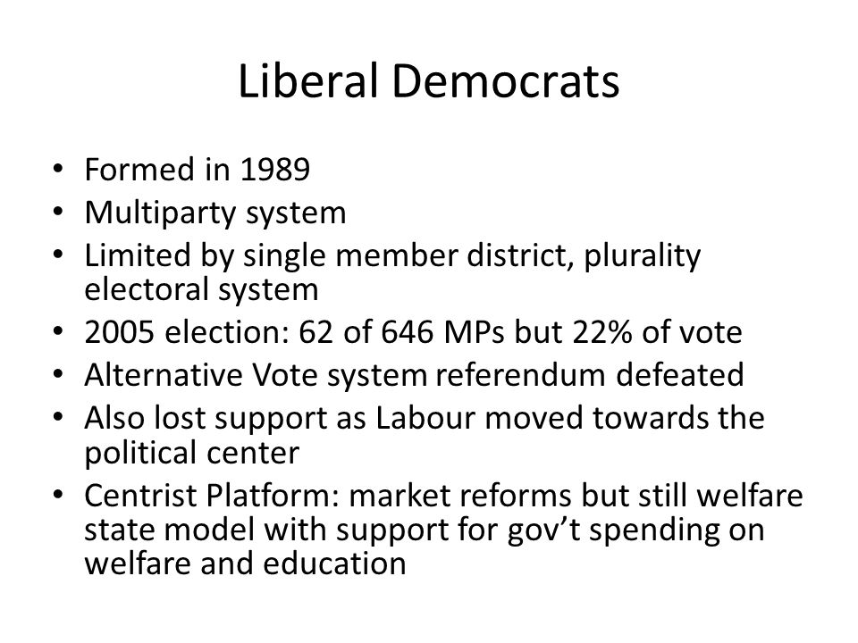 Great Britain: Political Parties and Institutions - ppt ...