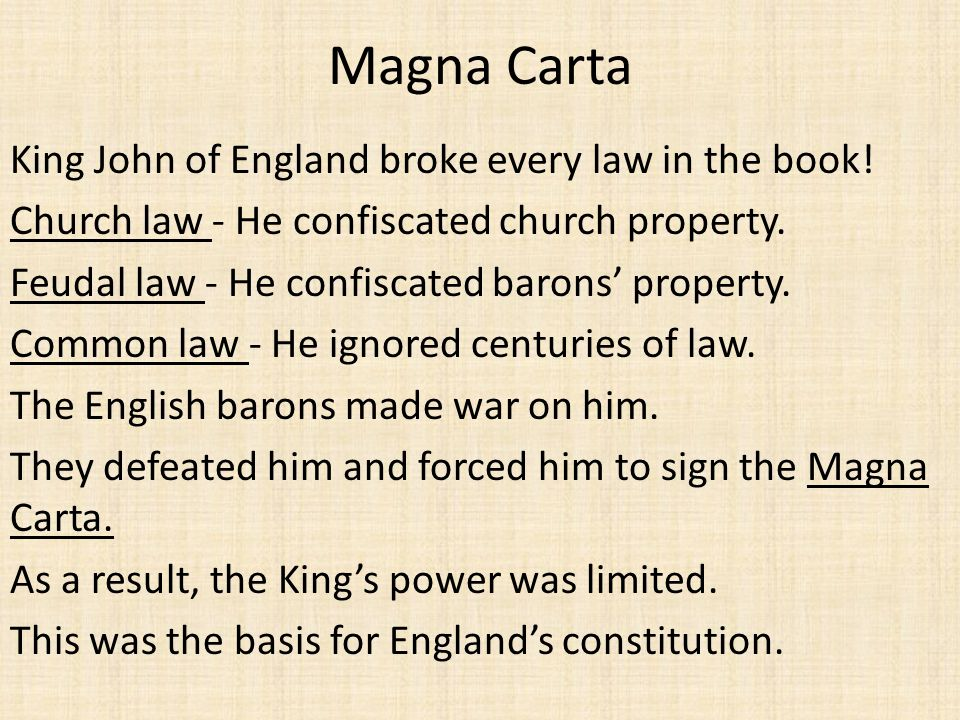 Magna Carta King John of England broke every law in the book!