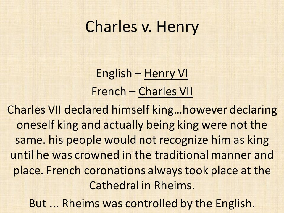 But ... Rheims was controlled by the English.
