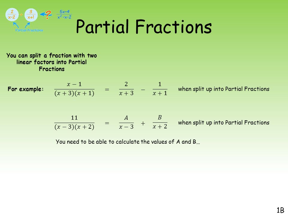 Partial Fractions. - ppt video online download