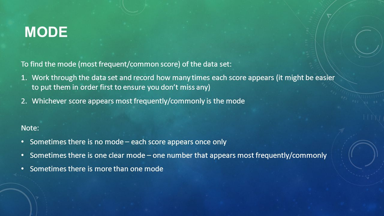 10 Mode How To Find The Median (ungrouped Data)