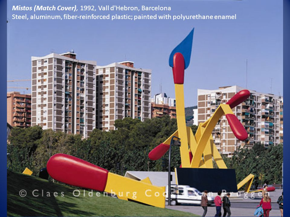 Mistos (Match Cover), 1992, Vall d Hebron, Barcelona Steel, aluminum, fiber-reinforced plastic; painted with polyurethane enamel
