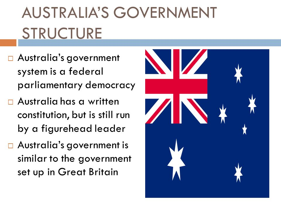 AUSTRALIA'S GOVERNMENT STRUCTURE