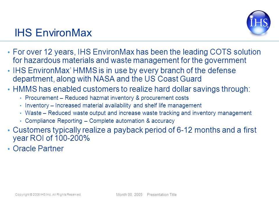 Ihs environment domain chris methven director business development 11 ihs environmax publicscrutiny Images