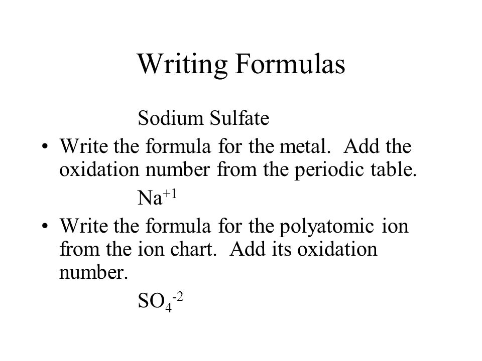 Writing and Naming a Compound with Polyatomic Ions?