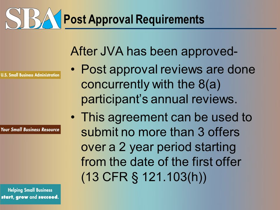 Post Approval Requirements