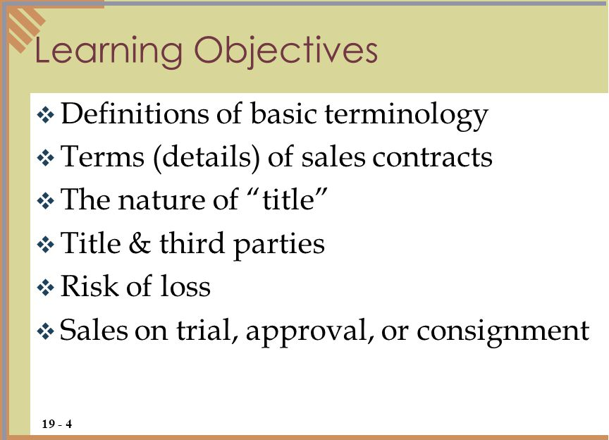 Sales Formation  Terms Product Liability  Ppt Download