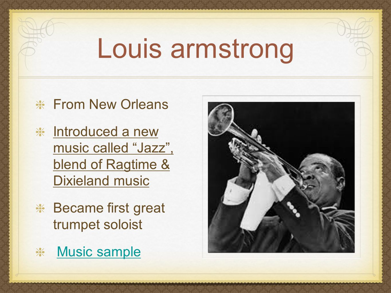 Louis armstrong From New Orleans