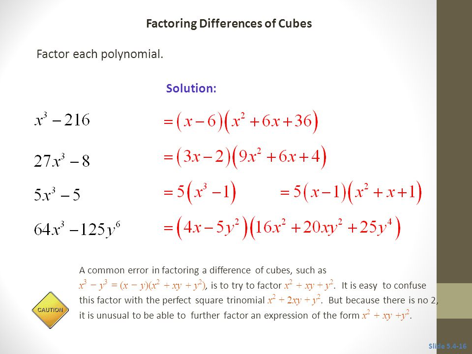 54 special factoring techniques ppt video online download factoring differences of cubes ccuart Image collections