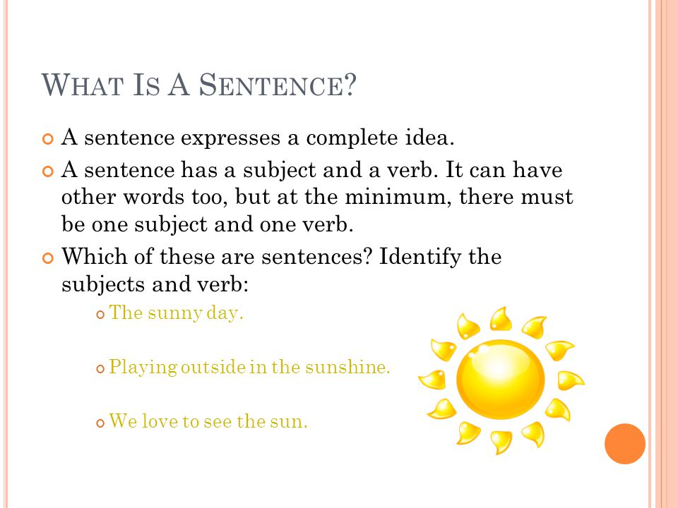 how to know if sentence is complete idea