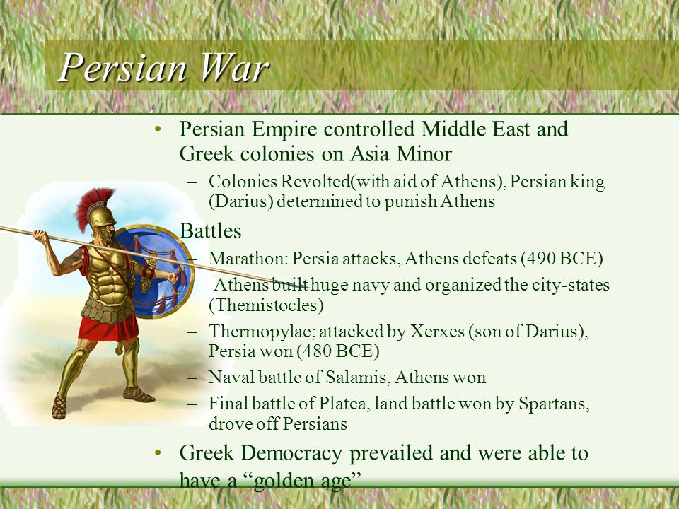 reasons for and consequences from the battle of marathon in 490 bce Battles the 12 most consequential final battles in the history of warfare  hugh landman  the battle of marathon, the first persian war, 490 bce  the reasons persia attacked greece.