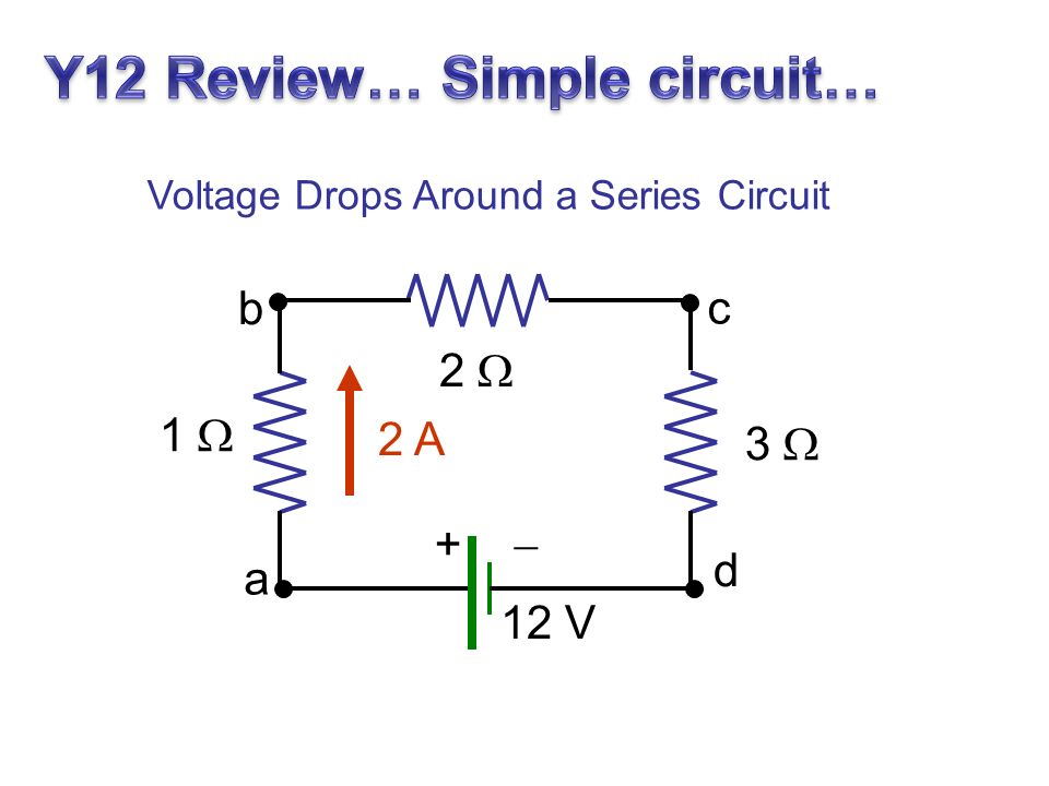Y12 Review… Simple circuit…