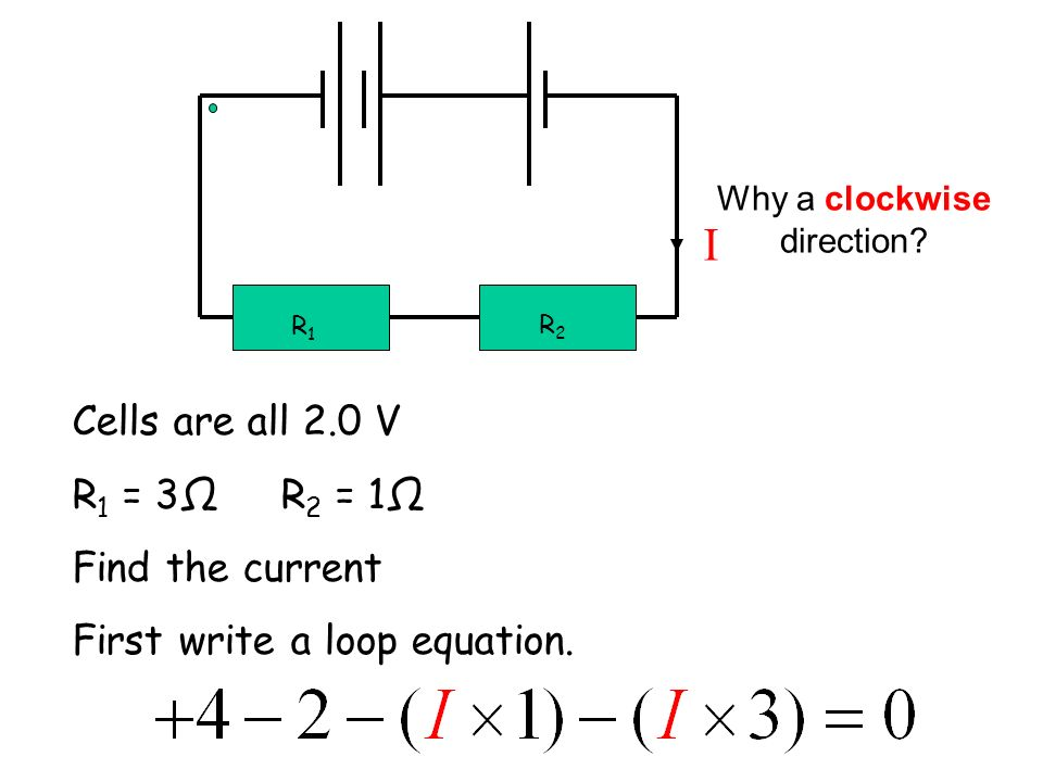 Why a clockwise direction