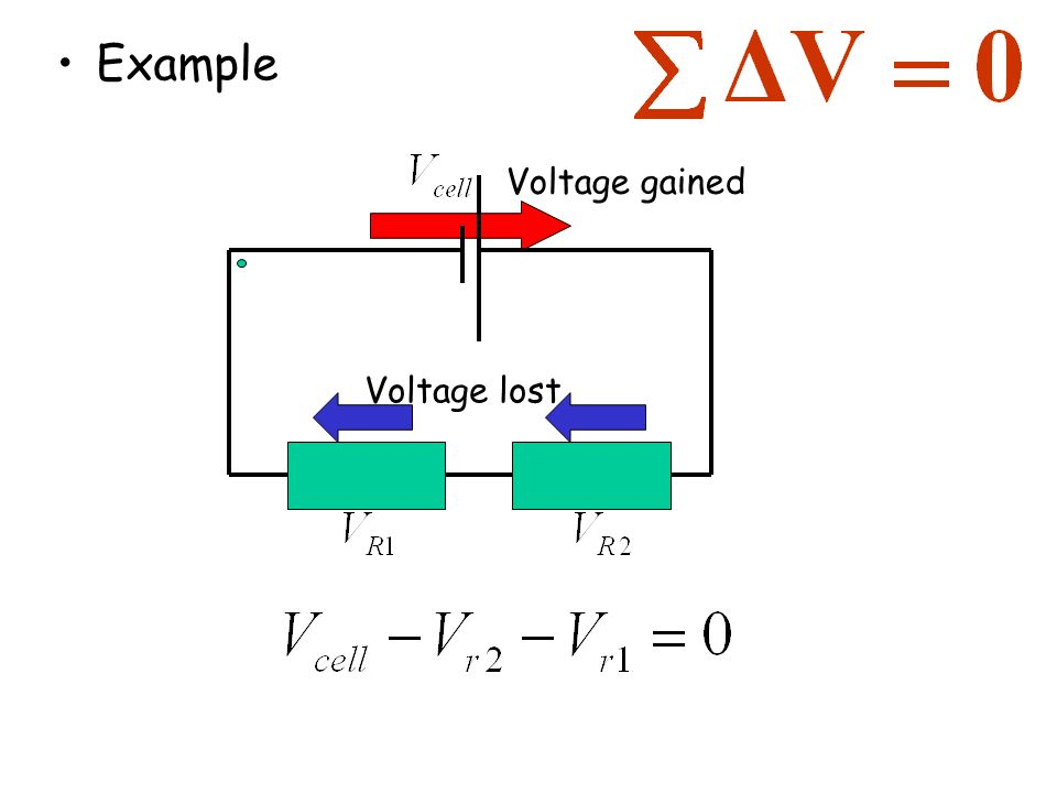 Example Voltage gained Voltage lost