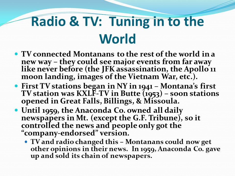 Radio & TV: Tuning in to the World