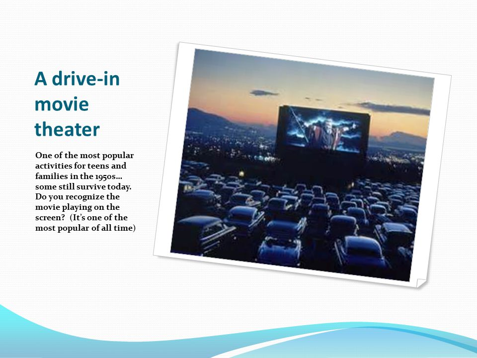 A drive-in movie theater