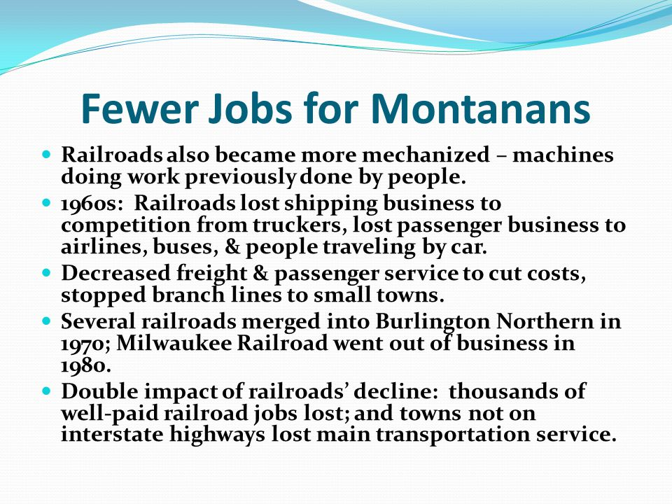 Fewer Jobs for Montanans