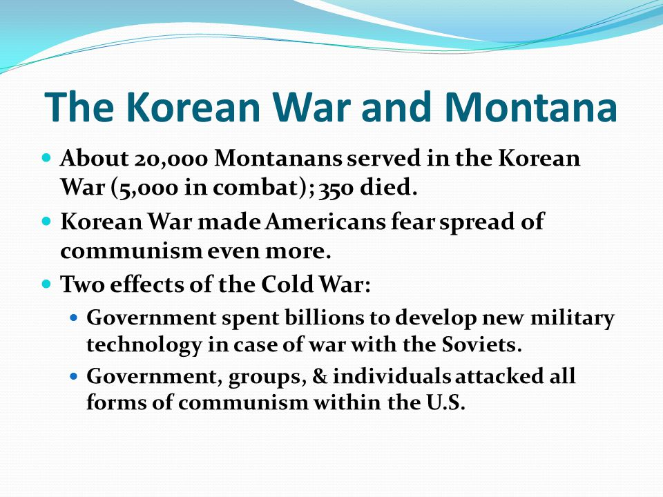 The Korean War and Montana