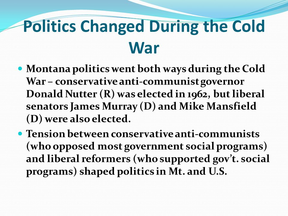 Politics Changed During the Cold War