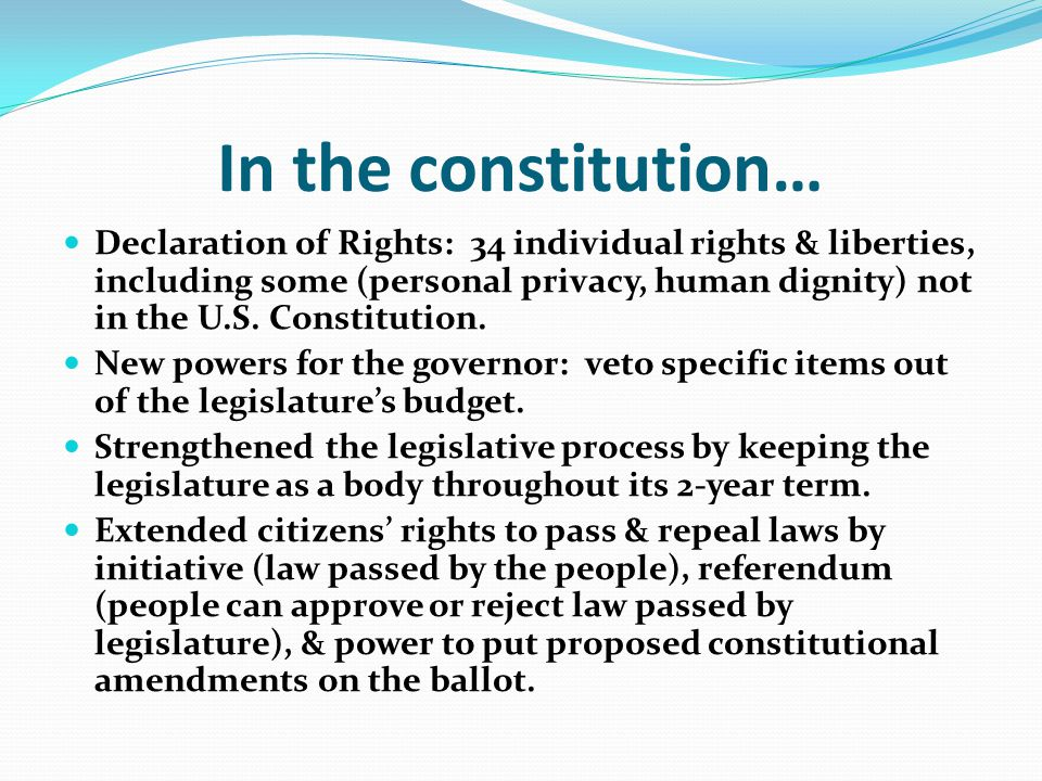 In the constitution…