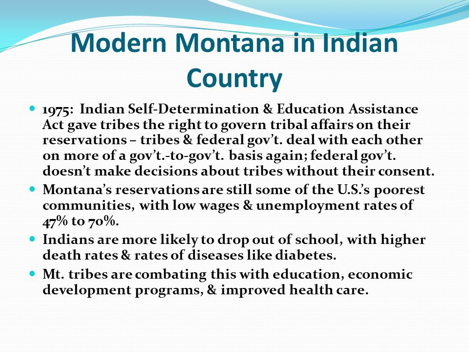Modern Montana in Indian Country