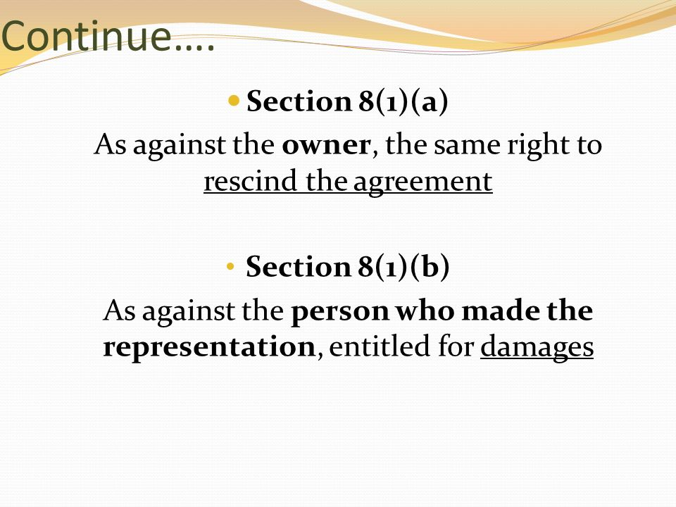 Prepared by madam norazla ppt download as against the owner the same right to rescind the agreement platinumwayz