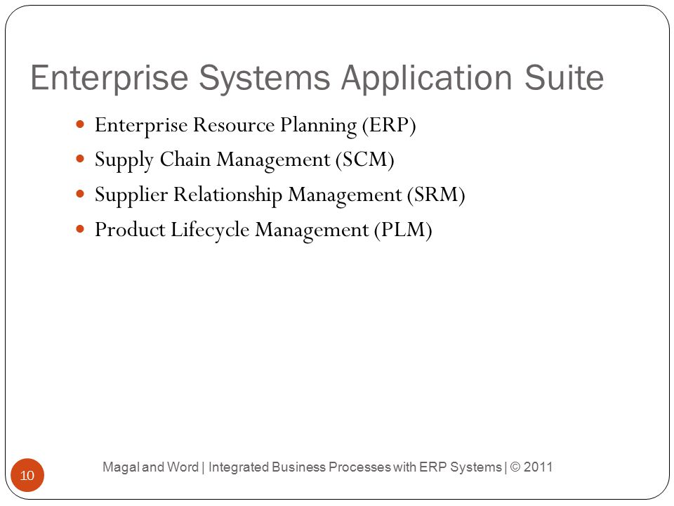Enterprise Systems Application Suite