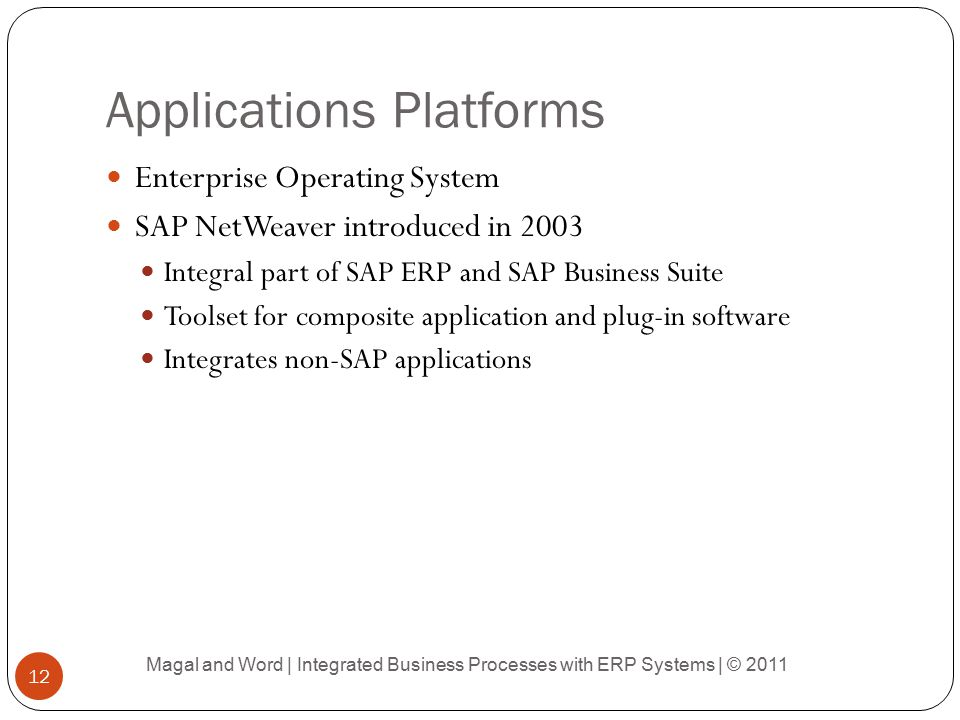 Applications Platforms