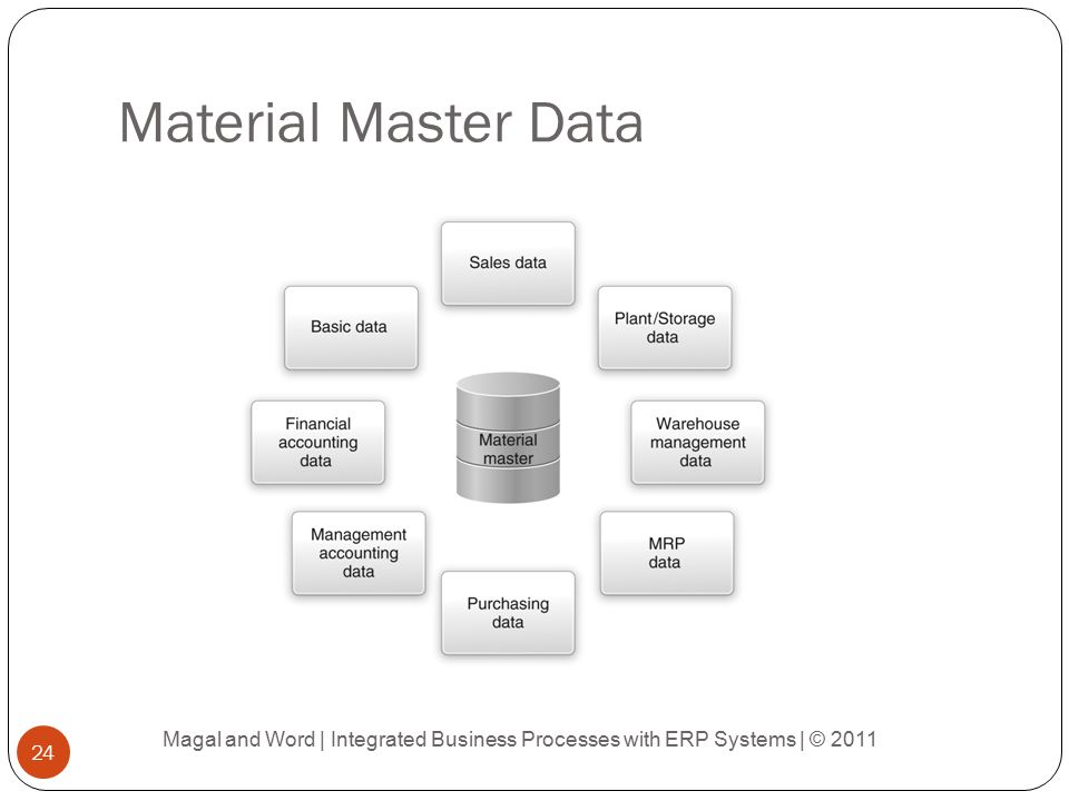 Material Master Data Magal and Word | Integrated Business Processes with ERP Systems | © 2011