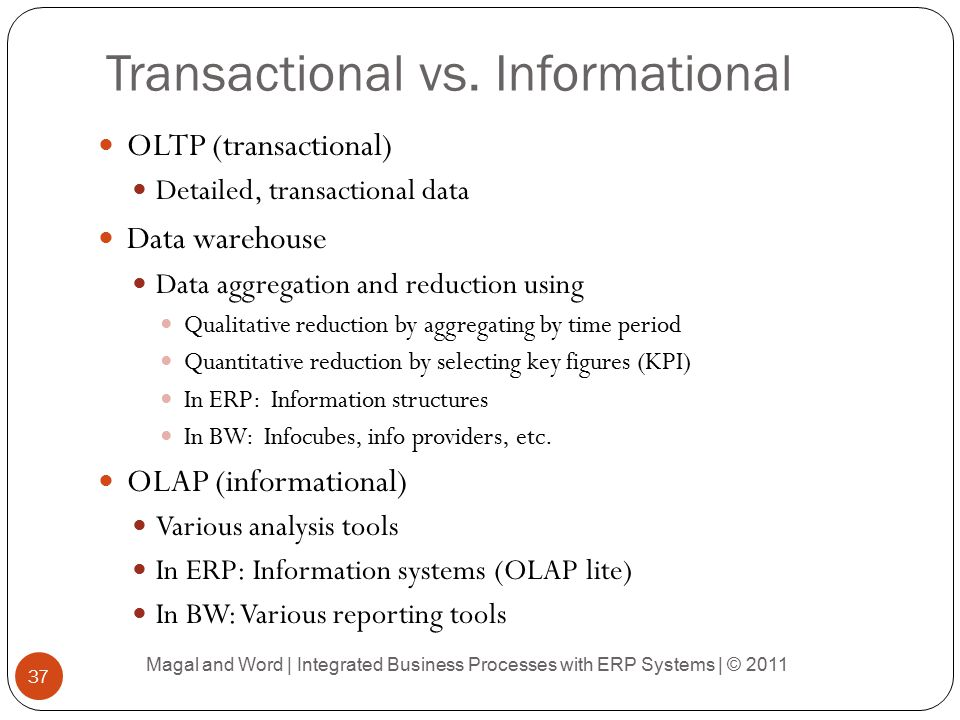 Transactional vs. Informational