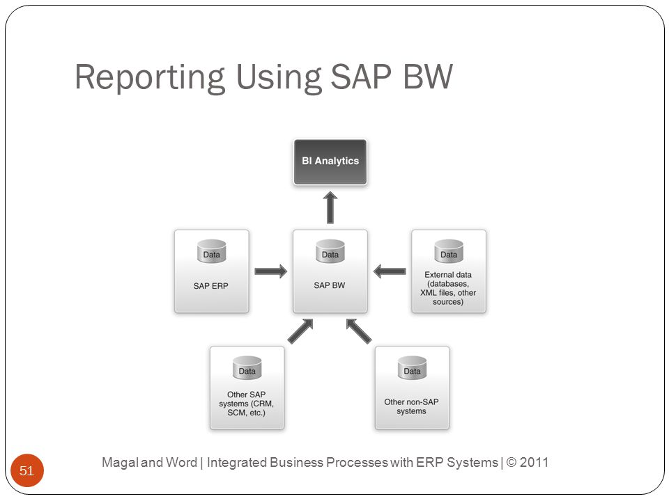 Reporting Using SAP BW Magal and Word | Integrated Business Processes with ERP Systems | © 2011