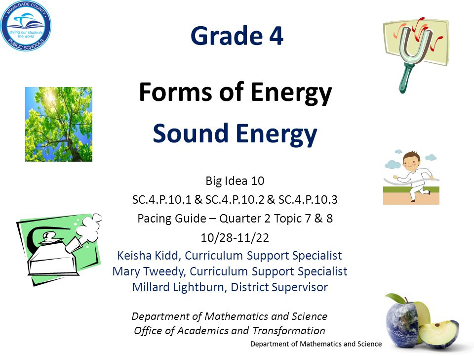 Forms of energy grade 4