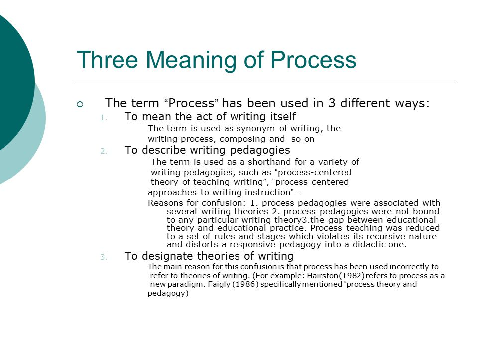 process approach to writing Chapter 19 the process approach to writing instruction examining its effectiveness ruie j pritchard and ronald l honeycutt our goal in this chapter is to review theory.