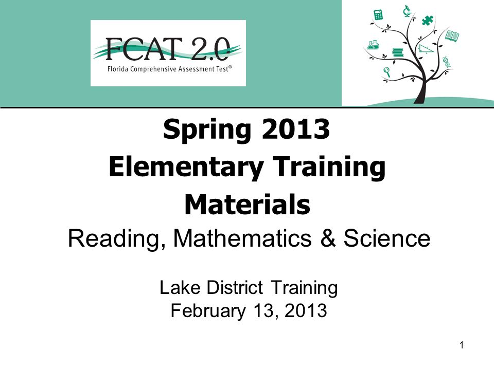 Spring 2013 Elementary Training Materials