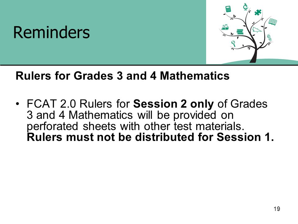 Reminders Rulers for Grades 3 and 4 Mathematics