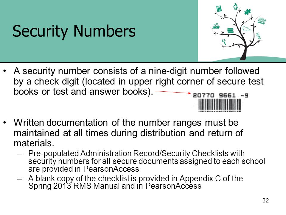Security Numbers