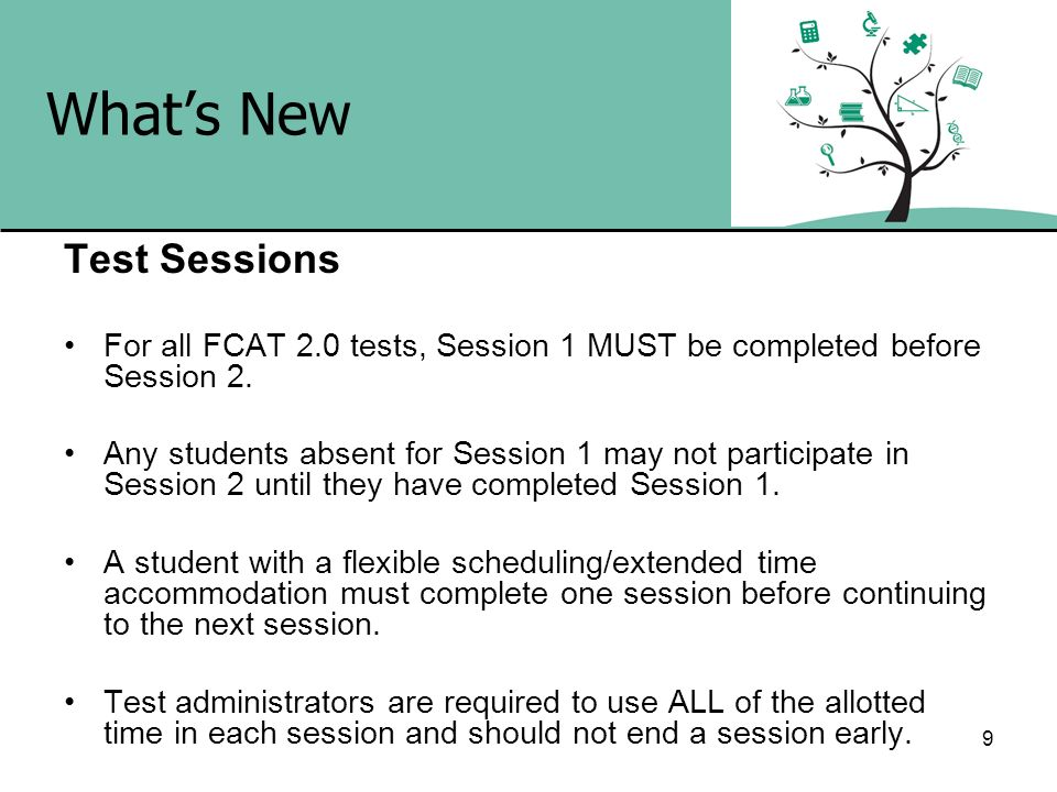 What's New Test Sessions