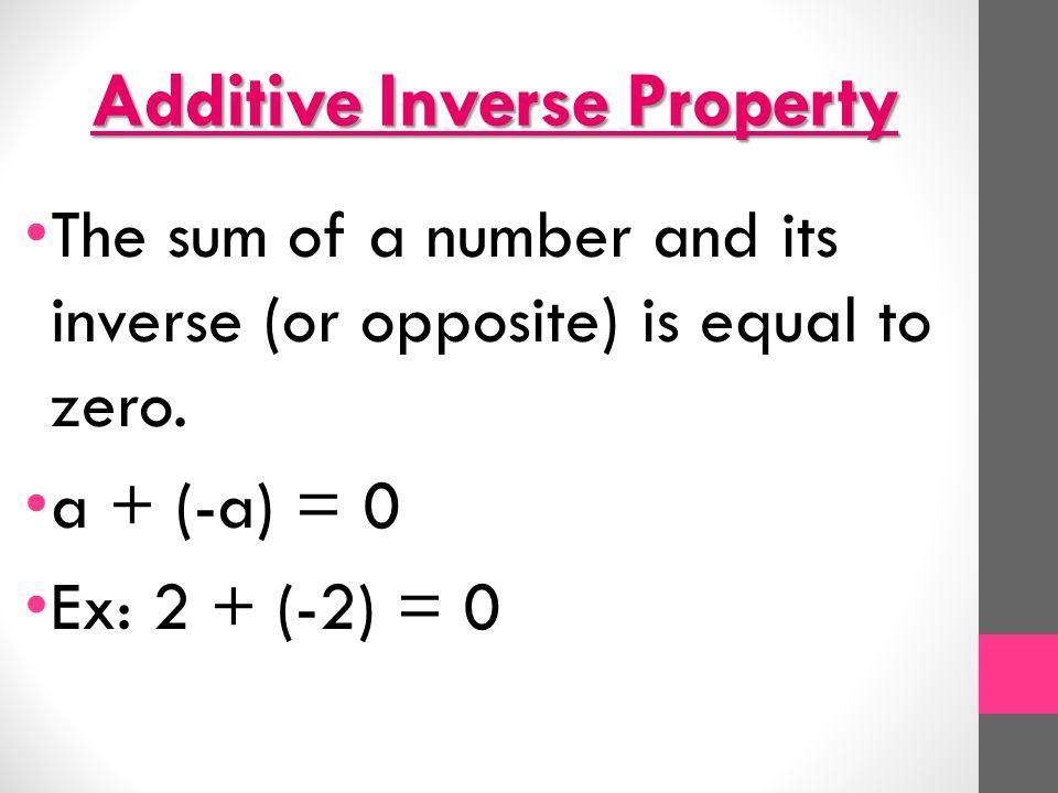 additive inverse worksheet the best and most comprehensive worksheets. Black Bedroom Furniture Sets. Home Design Ideas