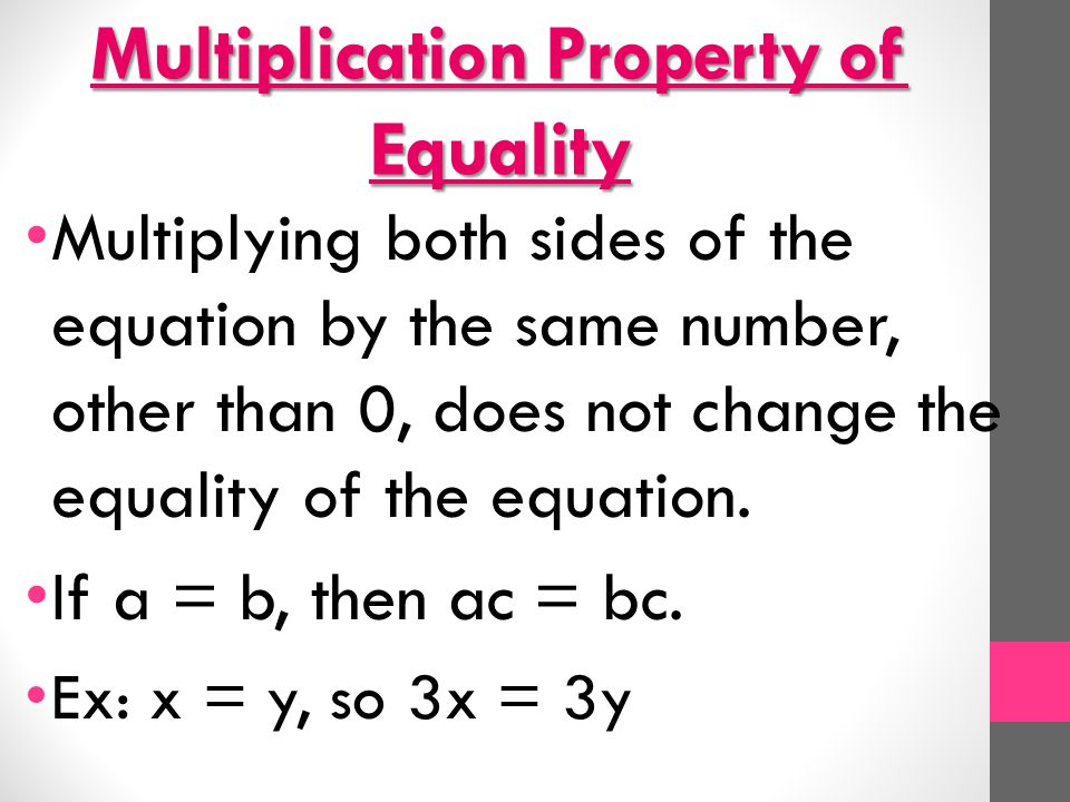 Properties of Equality - ppt video online download